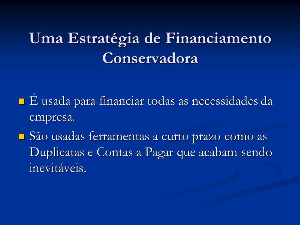 Uma Estratégia de Financiamento Conservadora