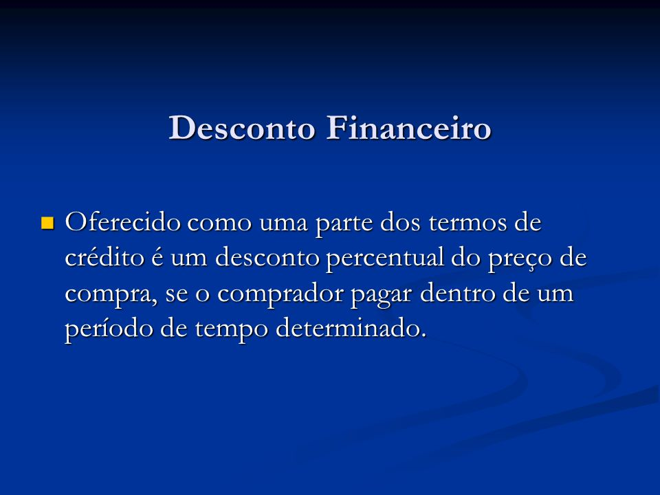 Desconto Financeiro