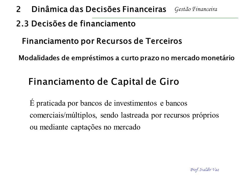 Financiamento de Capital de Giro