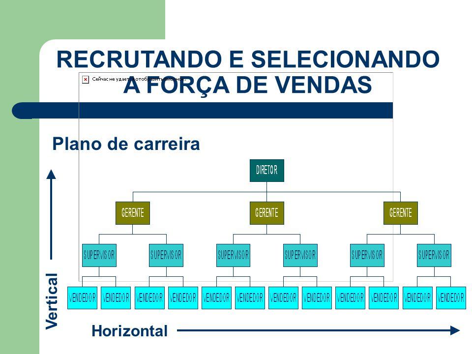 RECRUTANDO E SELECIONANDO A FORÇA DE VENDAS