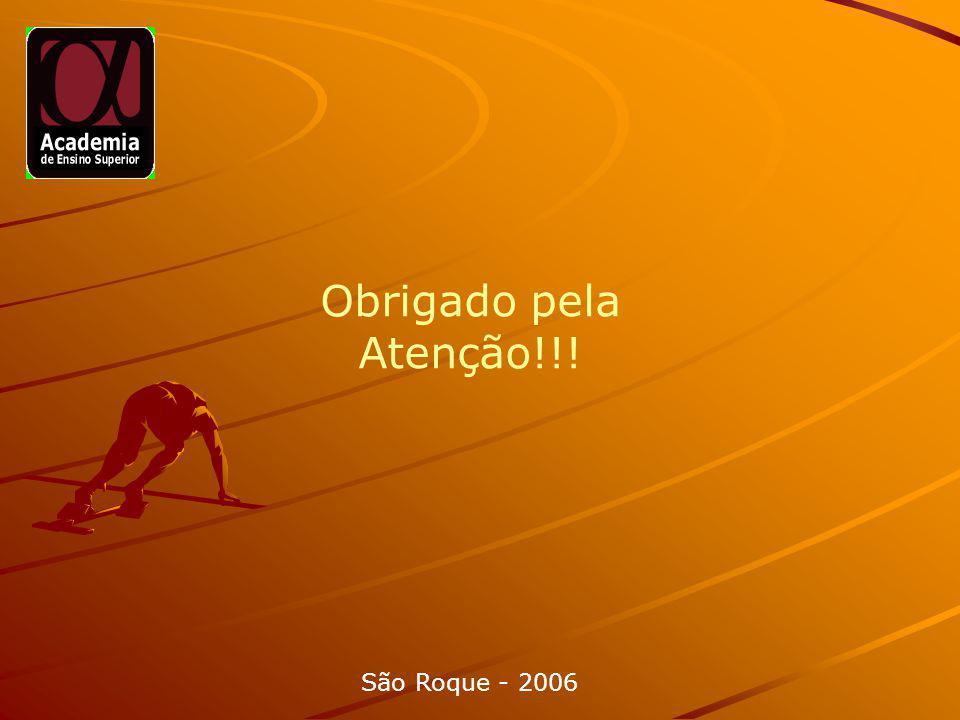 Obrigado pela Atenção!!! São Roque - 2006 Obrigado pela Atenção!!!