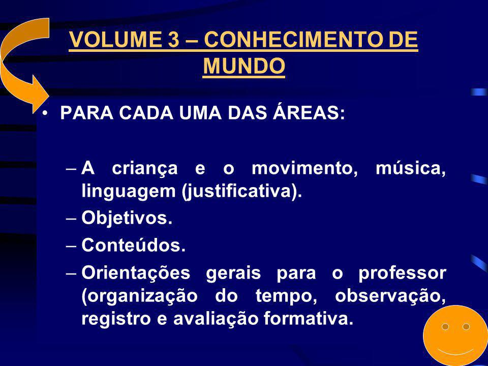 VOLUME 3 – CONHECIMENTO DE MUNDO