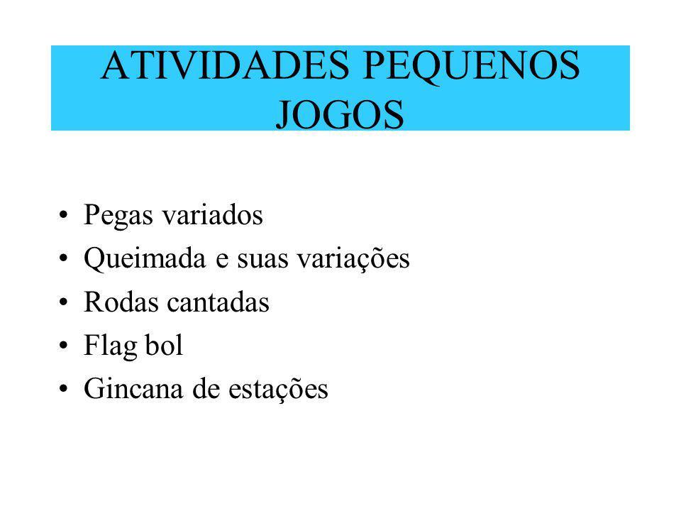 ATIVIDADES PEQUENOS JOGOS