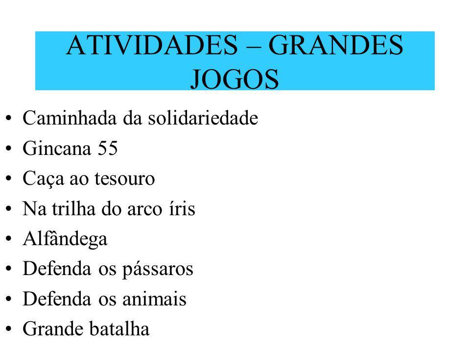 ATIVIDADES – GRANDES JOGOS