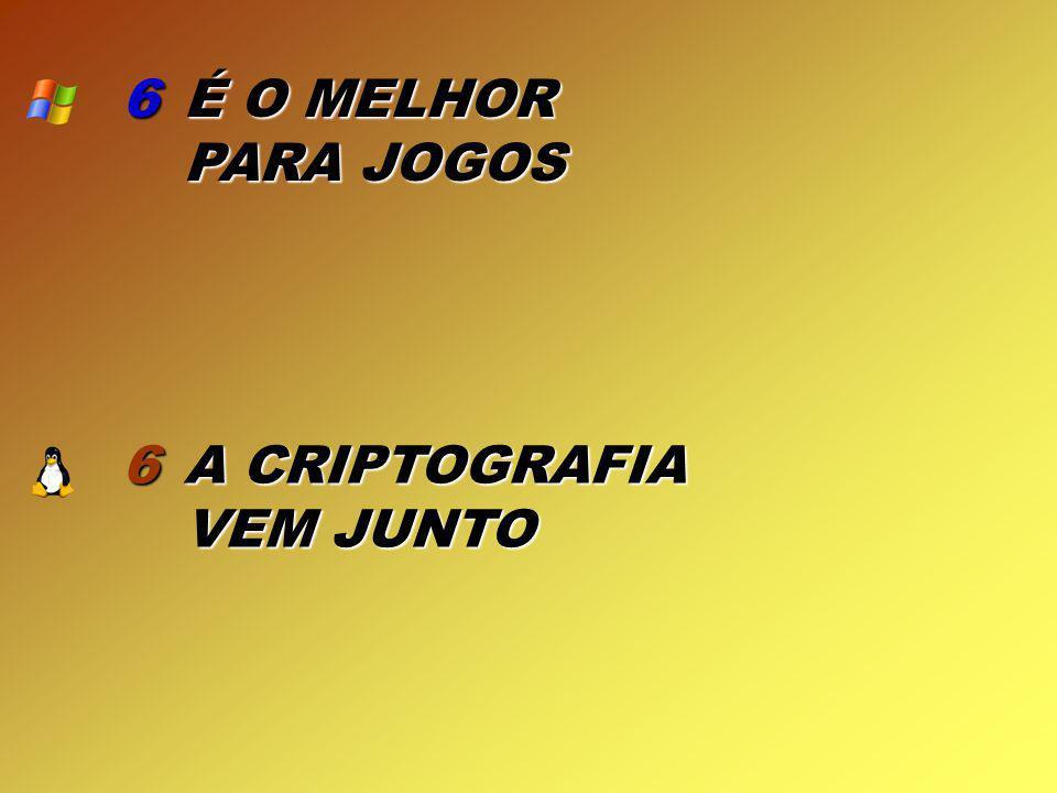6 É O MELHOR PARA JOGOS 6 A CRIPTOGRAFIA VEM JUNTO