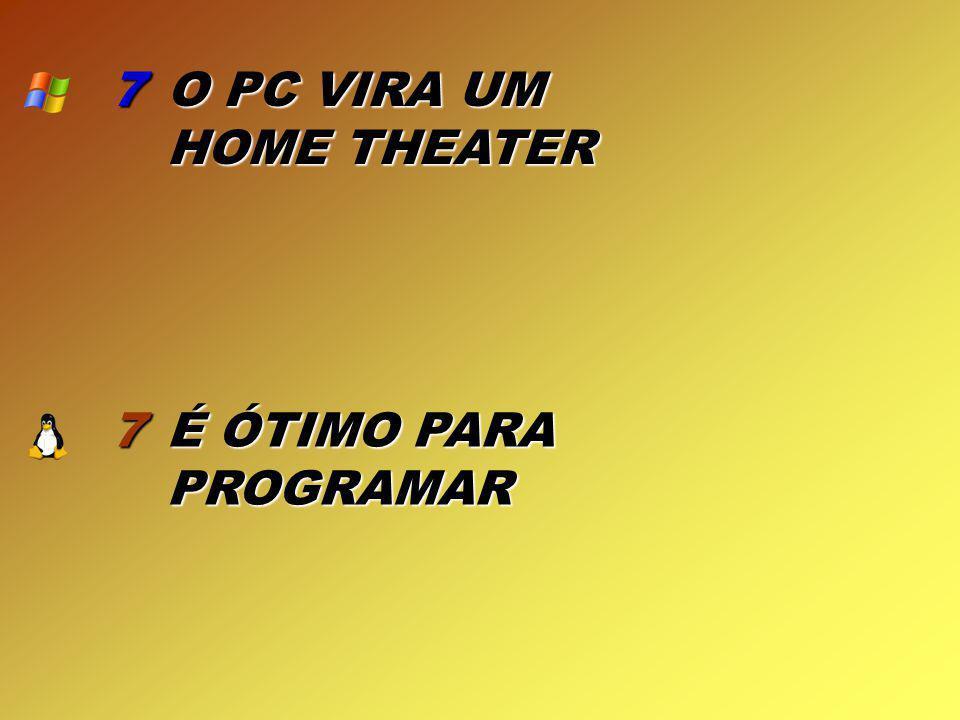 7 O PC VIRA UM HOME THEATER 7 É ÓTIMO PARA PROGRAMAR