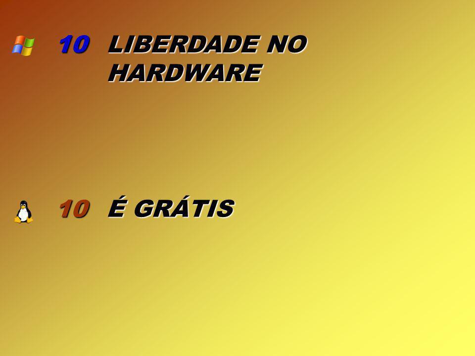 10 LIBERDADE NO HARDWARE 10 É GRÁTIS