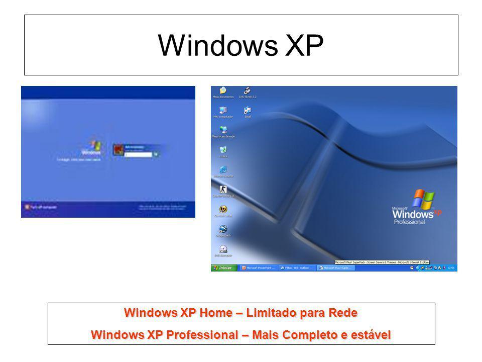 Windows XP Windows XP Home – Limitado para Rede