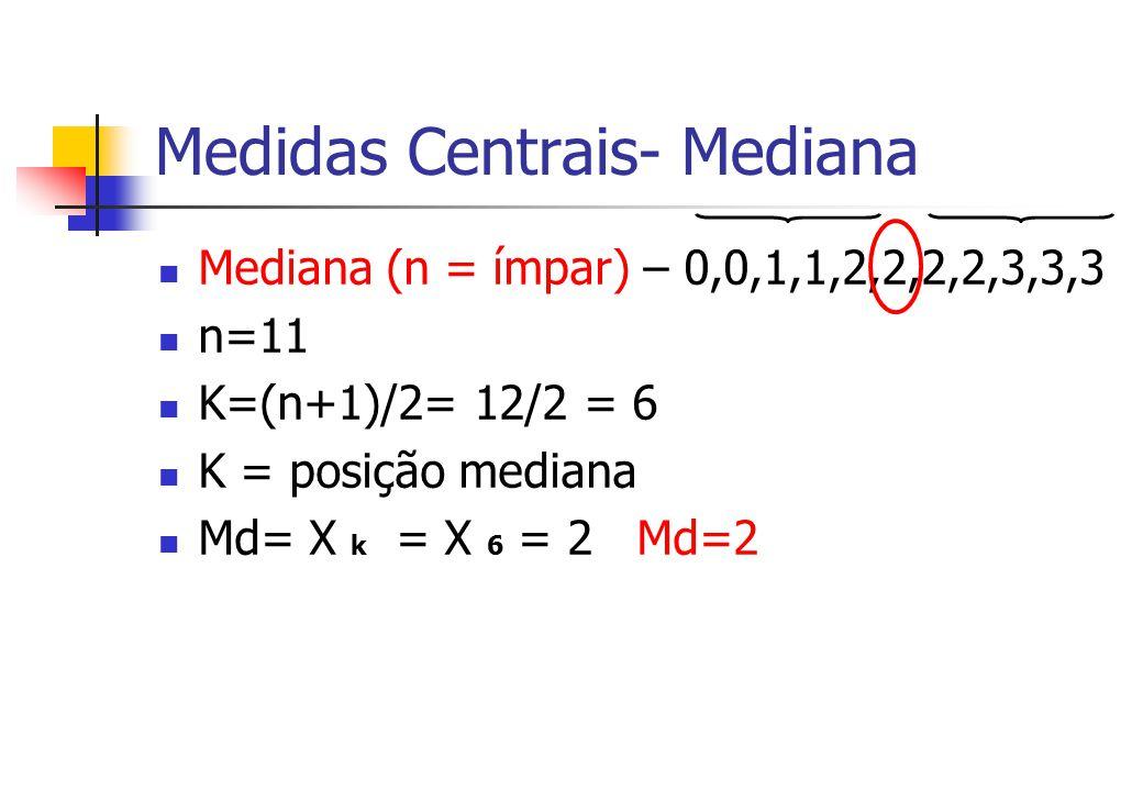 Medidas Centrais- Mediana