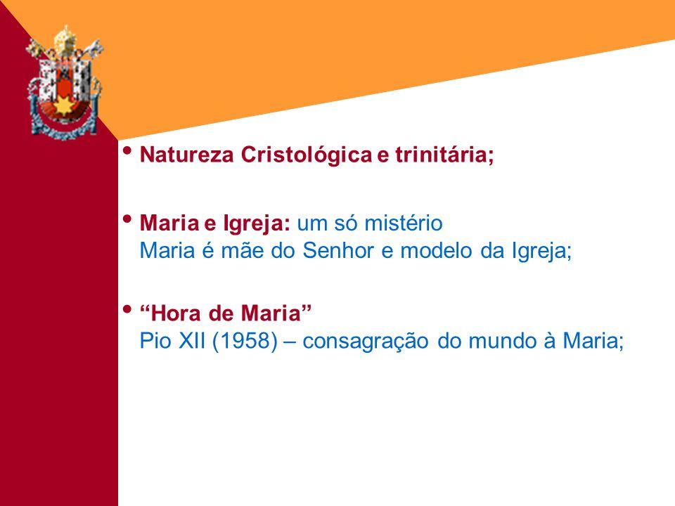 Natureza Cristológica e trinitária;