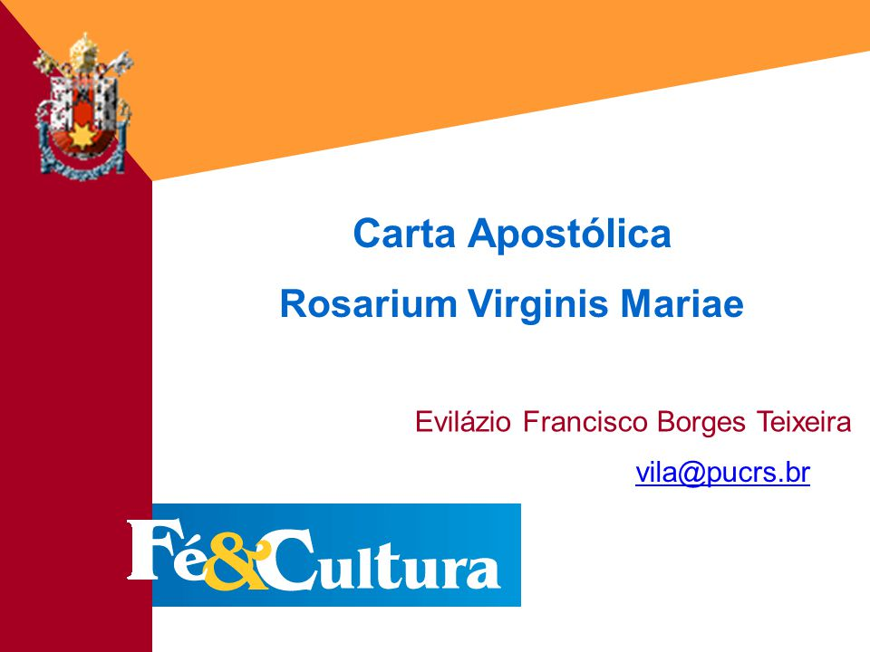 Rosarium Virginis Mariae