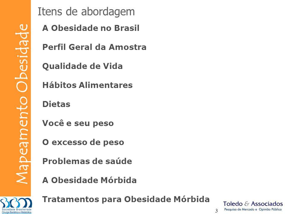 Itens de abordagem A Obesidade no Brasil Perfil Geral da Amostra