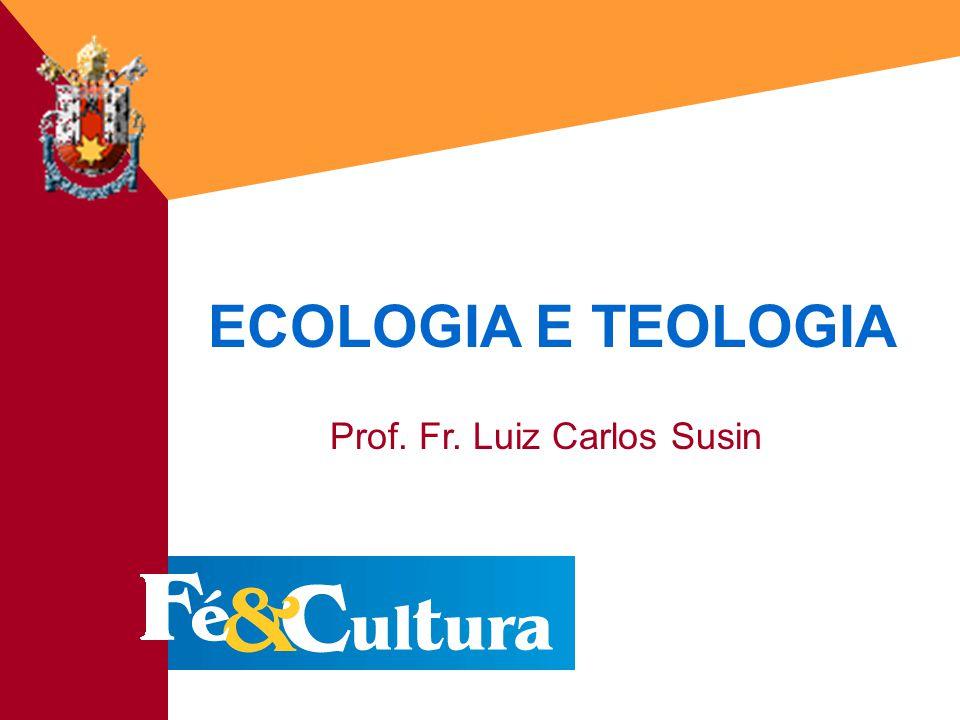ECOLOGIA E TEOLOGIA Prof. Fr. Luiz Carlos Susin