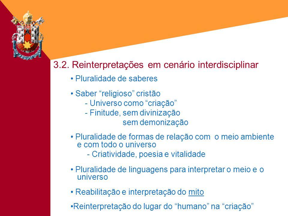 3.2. Reinterpretações em cenário interdisciplinar