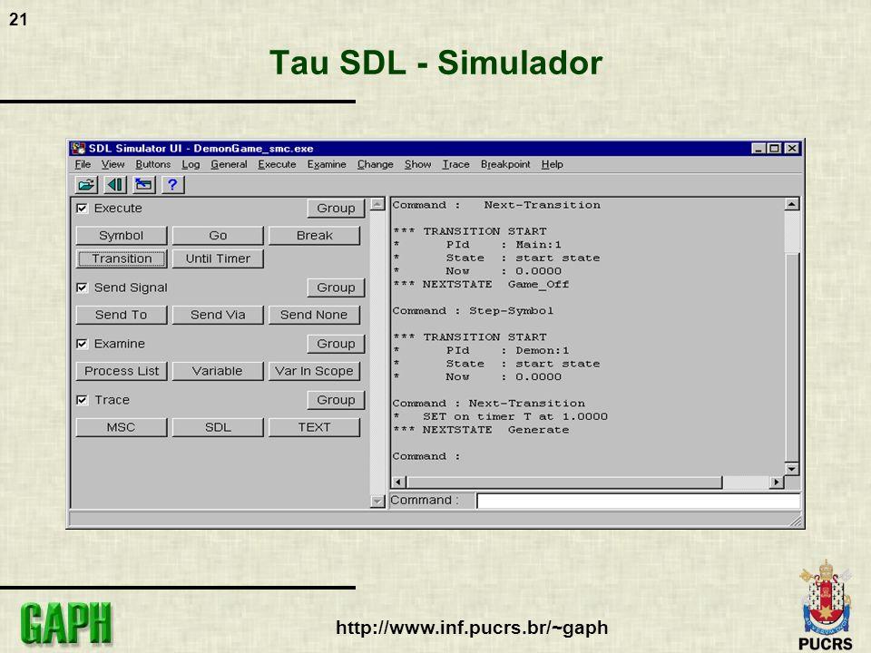 Tau SDL - Simulador