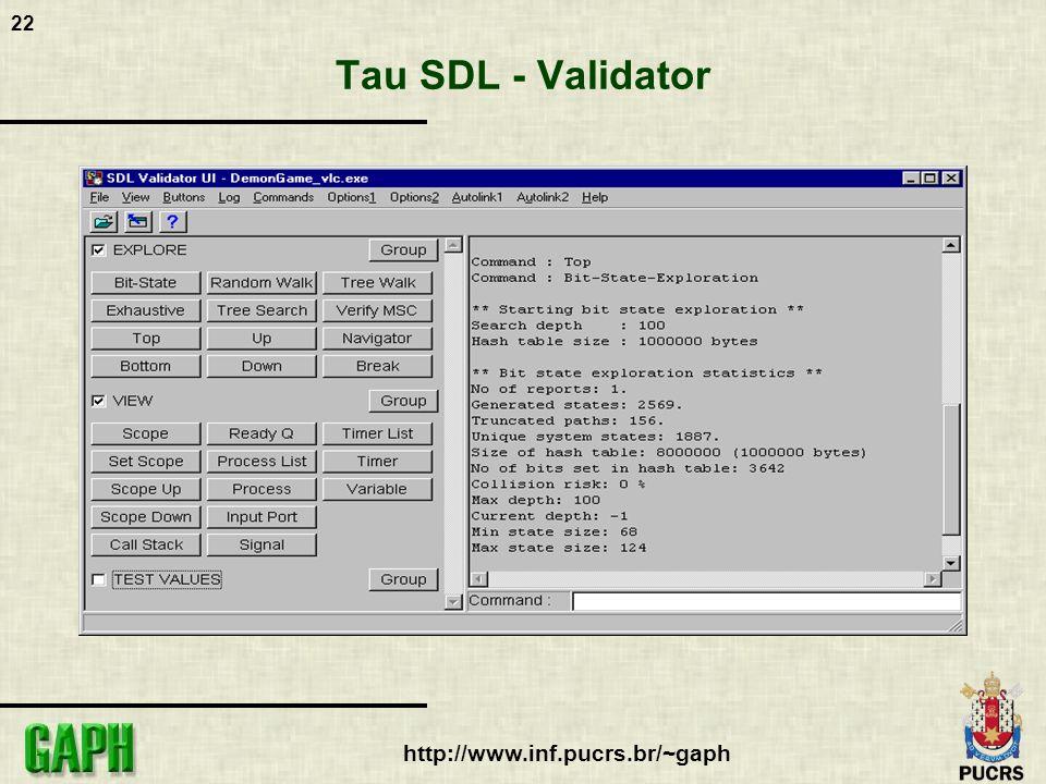 Tau SDL - Validator