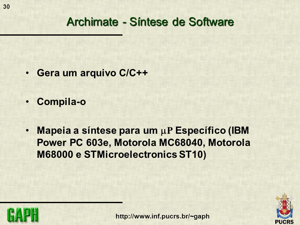 Archimate - Síntese de Software