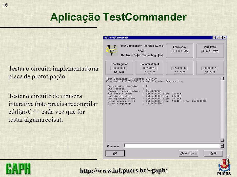 Aplicação TestCommander