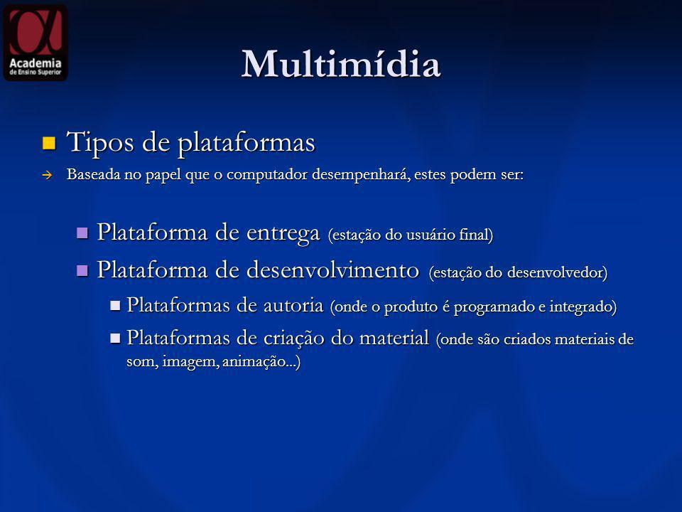 Multimídia Tipos de plataformas