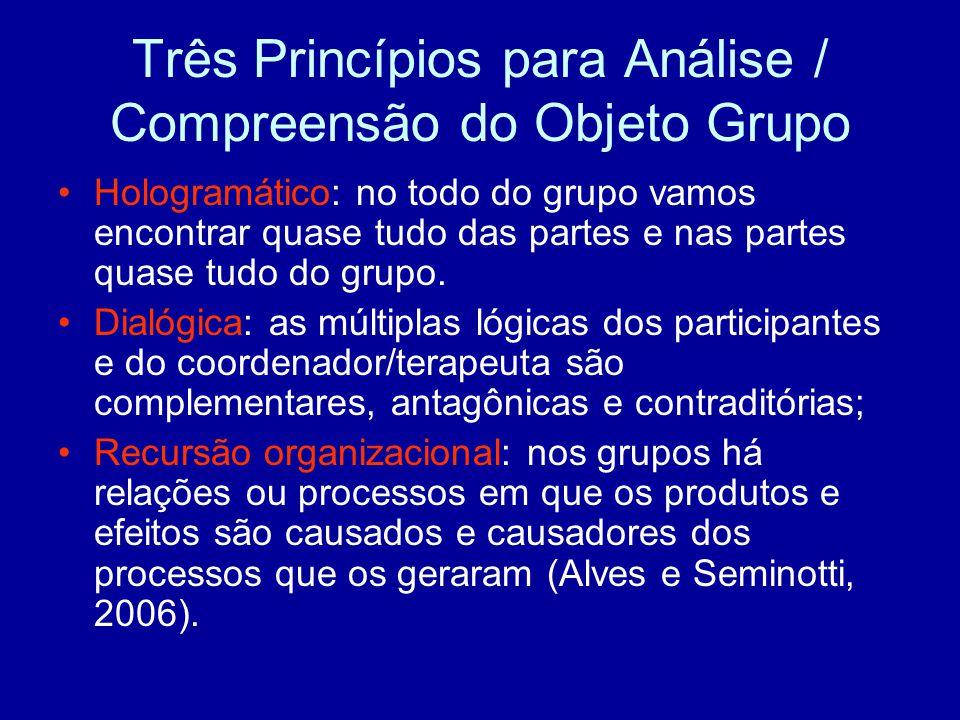 Três Princípios para Análise / Compreensão do Objeto Grupo