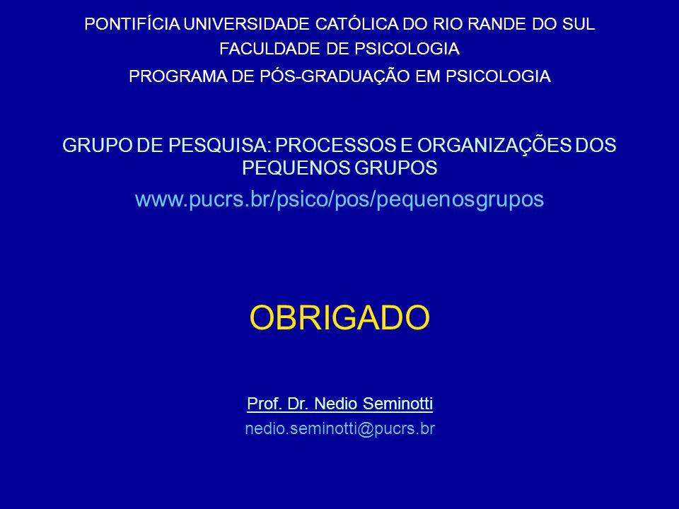 OBRIGADO www.pucrs.br/psico/pos/pequenosgrupos