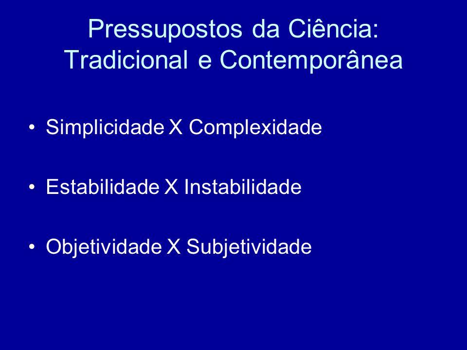 Pressupostos da Ciência: Tradicional e Contemporânea