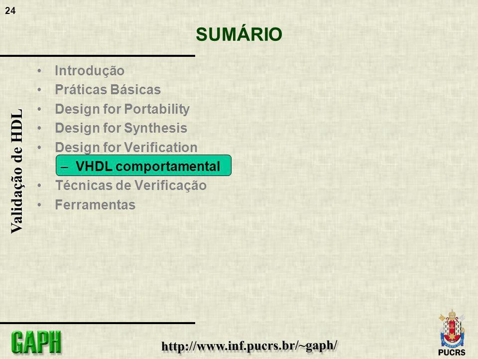 SUMÁRIO Introdução Práticas Básicas Design for Portability
