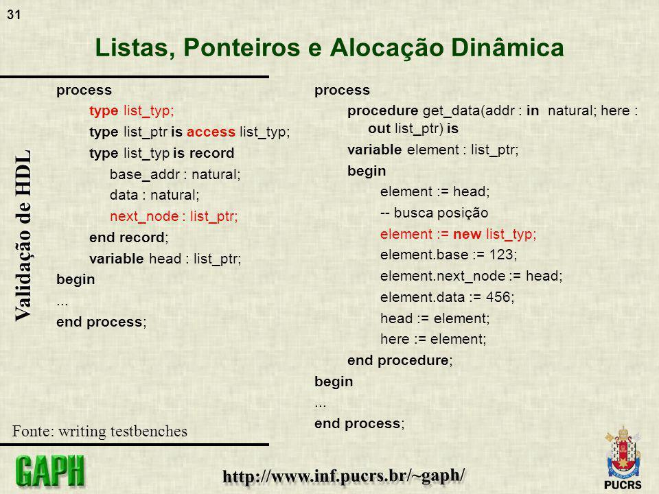 Listas, Ponteiros e Alocação Dinâmica