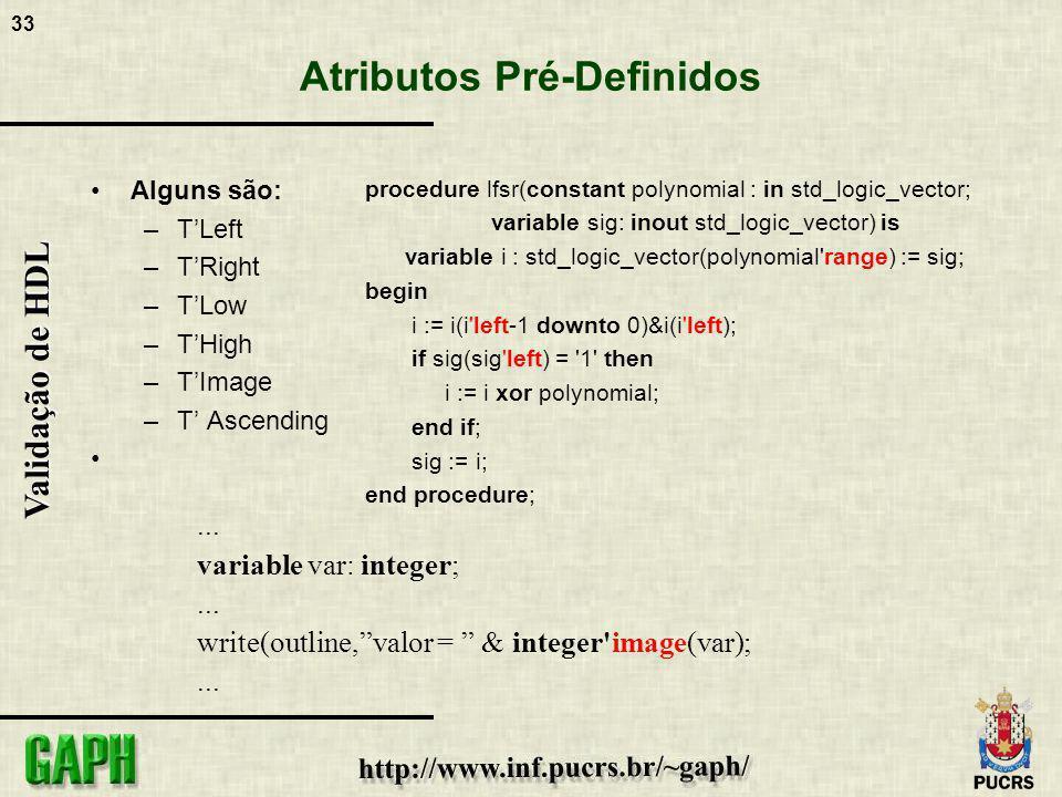 Atributos Pré-Definidos