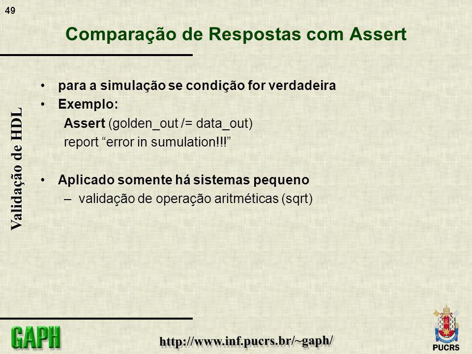 Comparação de Respostas com Assert