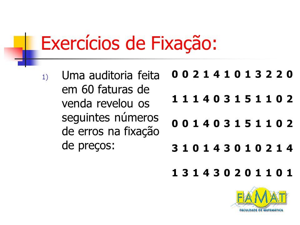 Exercícios de Fixação:
