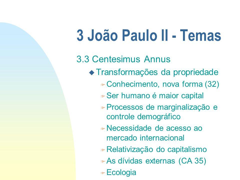 3 João Paulo II - Temas 3.3 Centesimus Annus