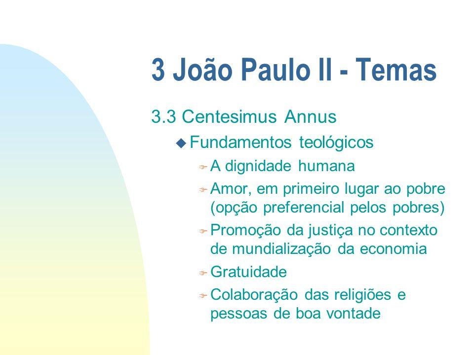 3 João Paulo II - Temas 3.3 Centesimus Annus Fundamentos teológicos
