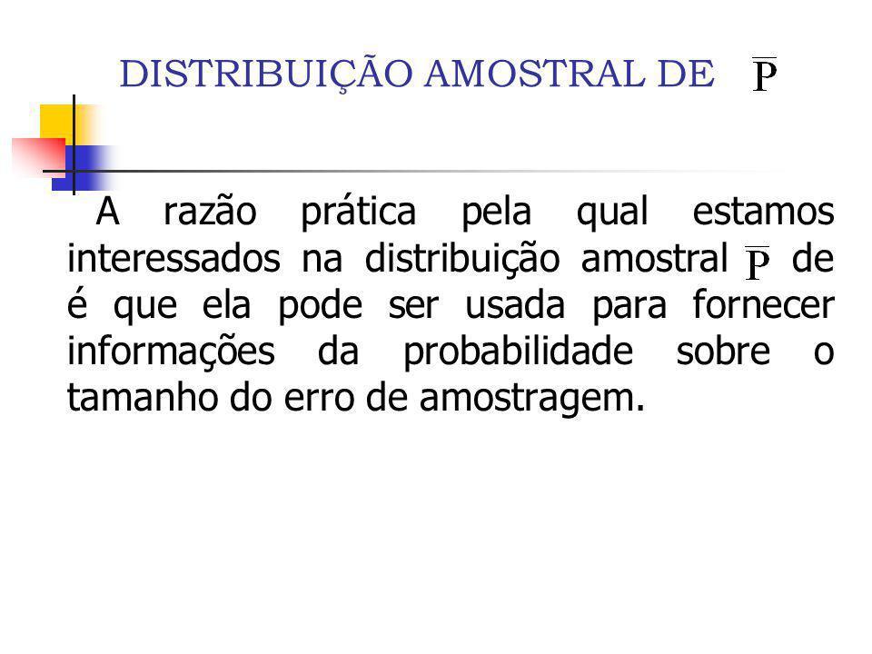 DISTRIBUIÇÃO AMOSTRAL DE