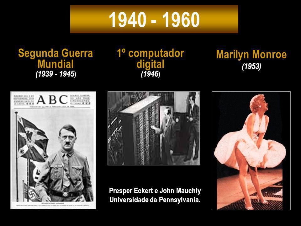 Presper Eckert e John Mauchly Universidade da Pennsylvania.