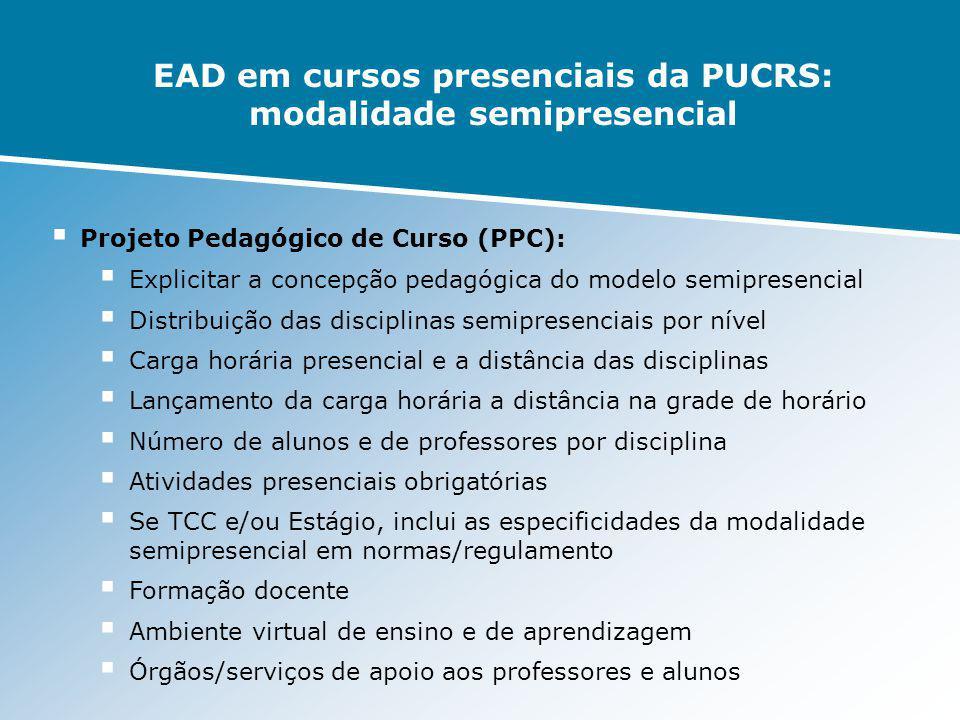 EAD em cursos presenciais da PUCRS: modalidade semipresencial