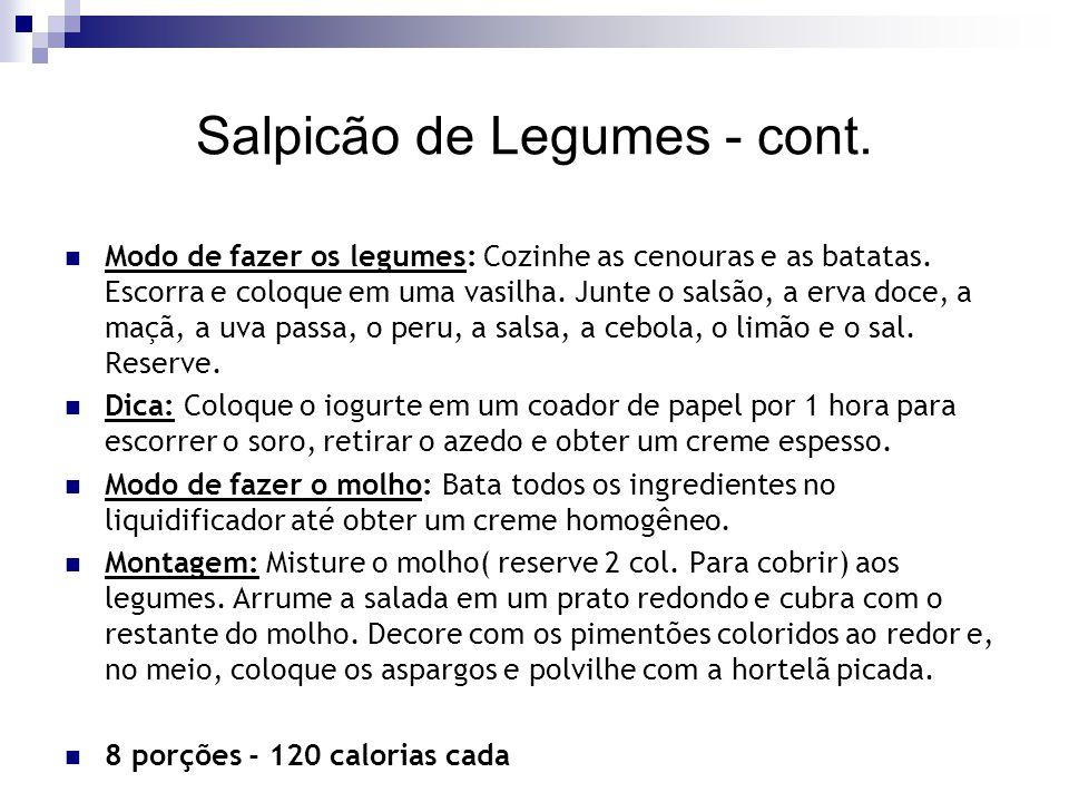 Salpicão de Legumes - cont.