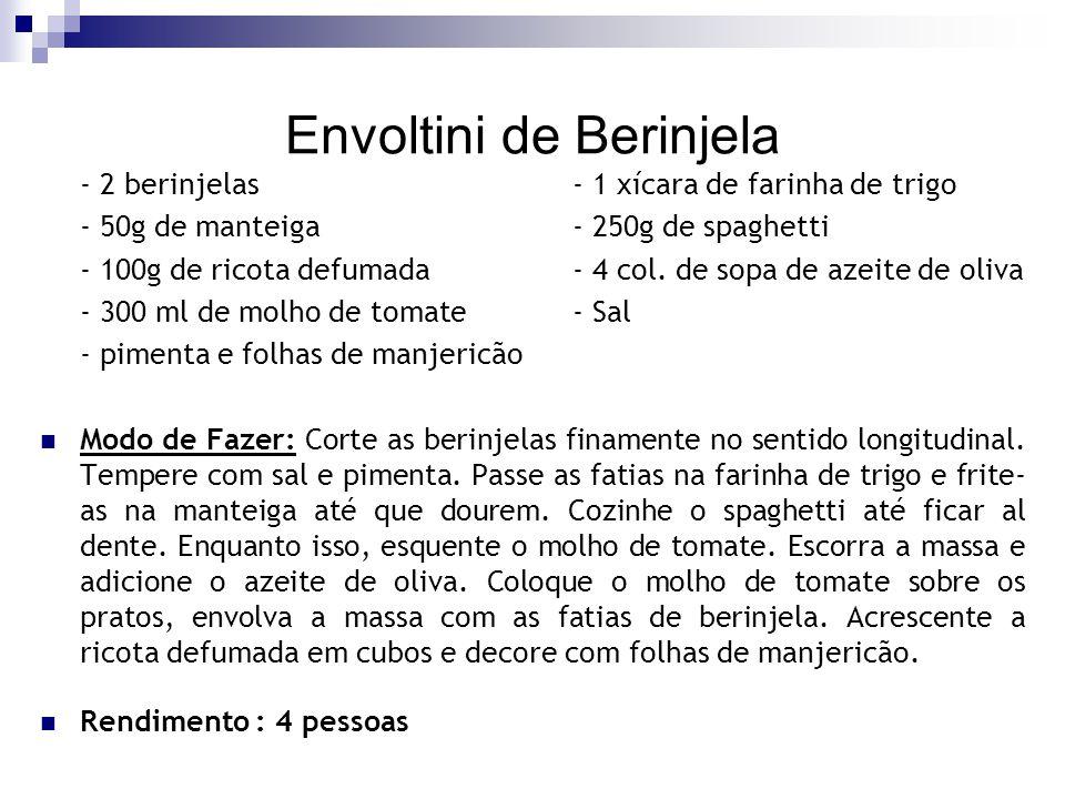 Envoltini de Berinjela