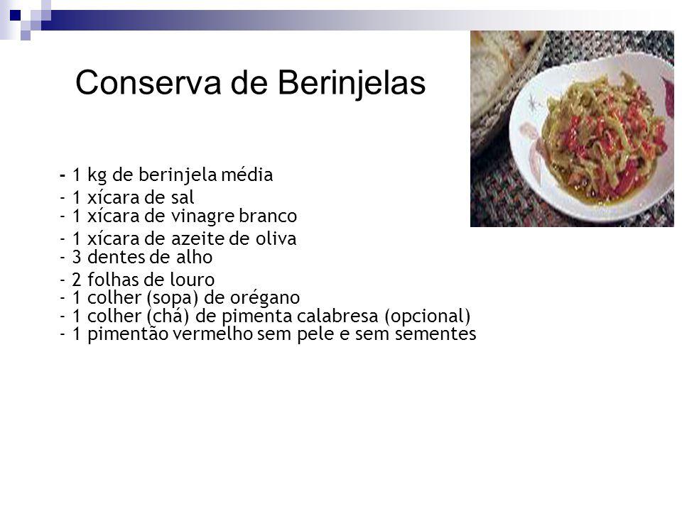 Conserva de Berinjelas