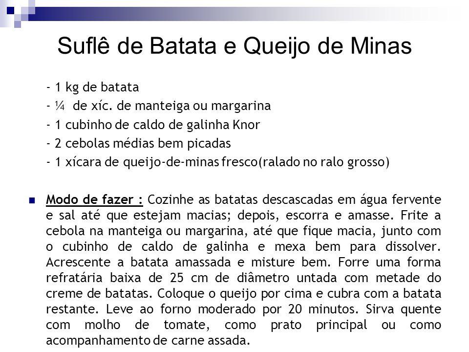 Suflê de Batata e Queijo de Minas