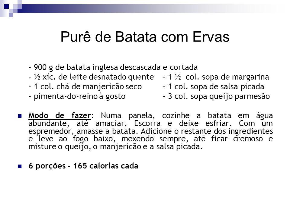 Purê de Batata com Ervas