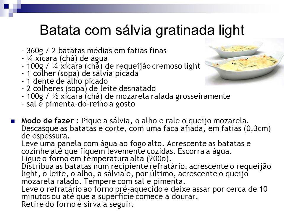 Batata com sálvia gratinada light