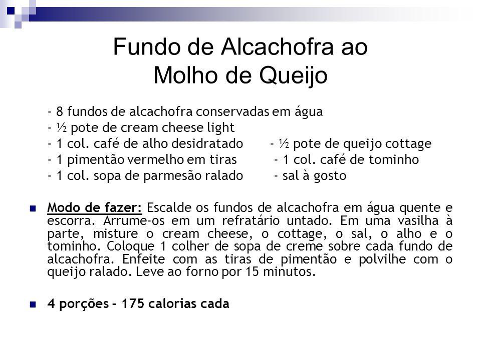 Fundo de Alcachofra ao Molho de Queijo