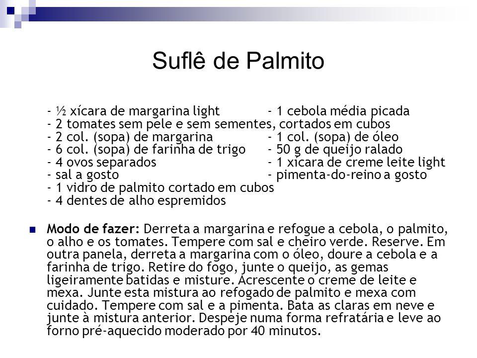 Suflê de Palmito