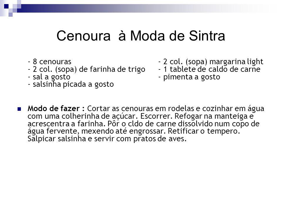 Cenoura à Moda de Sintra