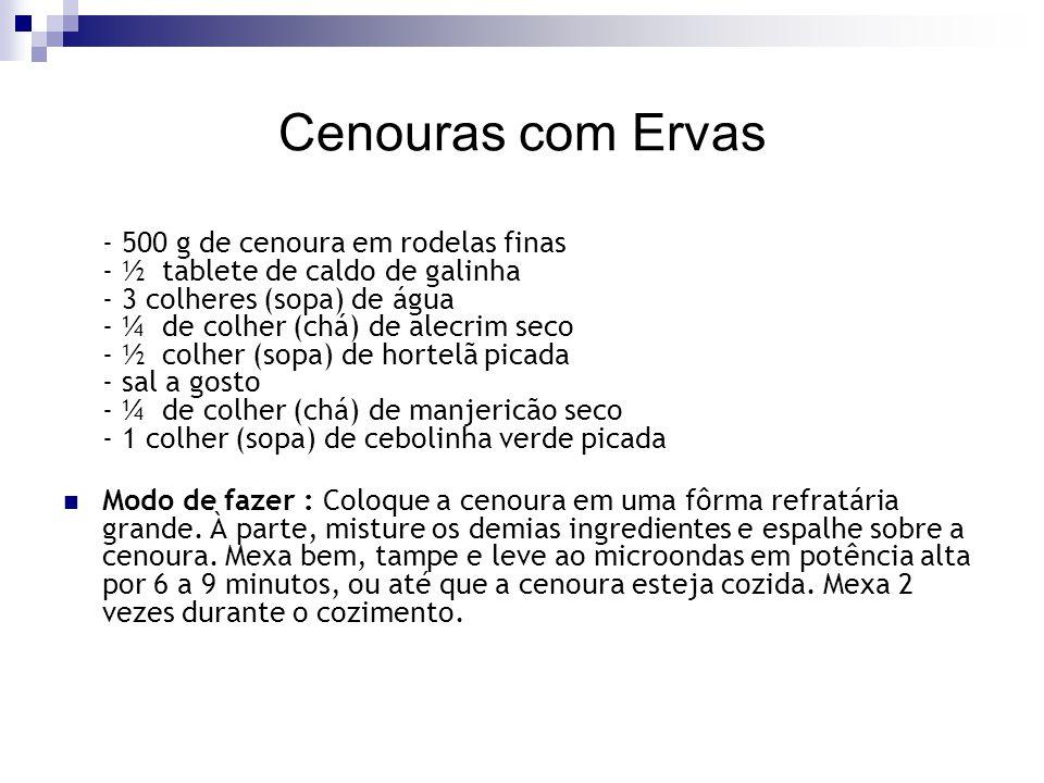 Cenouras com Ervas