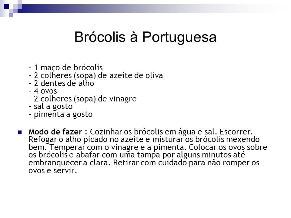 Brócolis à Portuguesa