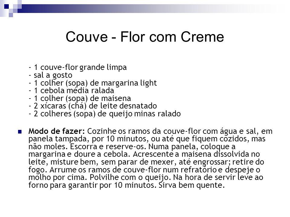 Couve - Flor com Creme