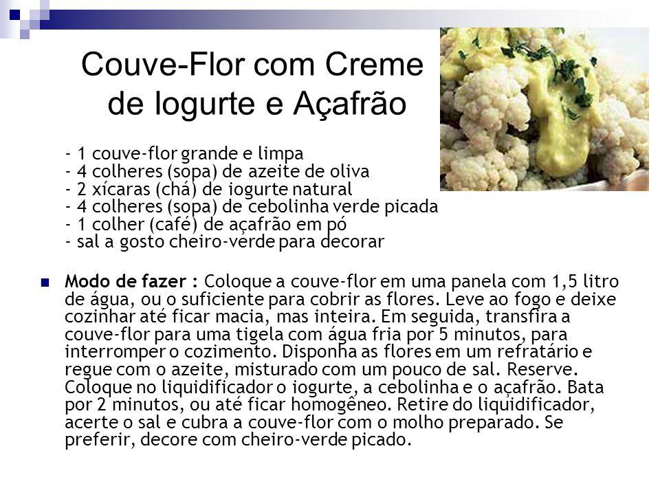 Couve-Flor com Creme de Iogurte e Açafrão