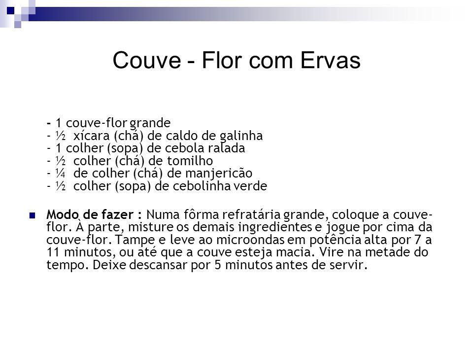 Couve - Flor com Ervas